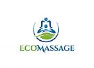Ö Massage, Physiotherapie, Ruecken, Blatt, Eco Logo