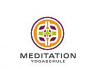 Logo Signet, Zeichen, Muster, Yoga, Meditation, Schulung
