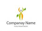Logo, Mensch, Heilpraxis, Physiotherapie, Ernährungsratgeber