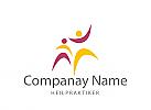 Logo, Signet, zwei Menschen, Physiotherapie, Fitness, Heilpraxis