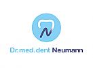 Zähne, Zahn, Zahnarztpraxis, Logo, Buchstabe, N, Kreis, Rund
