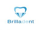 Zähne, Zahn, Zahnarztpraxis, Logo, Brillant, Diamant
