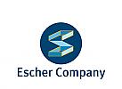 Logo, Signet, S, Escher,