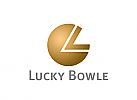 Logo, Signet, rund, L, V,