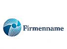 Logo, Signet, Kreis, rund mit Strahlen, Energiefleder, Umwelt, Strom
