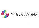 Zwei Spirale, Spirale, farbig, Logo