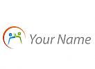 Zwei Personen und Sonne Logo