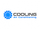 Klimaanlage Logo, Kühlung Logo, Eis Logo, Wind Logo