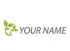 Zwei Bäume, Pflanzen, Gärtner, Logo