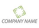 Stern, Blume in grün Logo