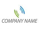 Wellen in grün und blau Logo
