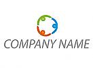 Team, Drei Personen, Gruppe, Logo
