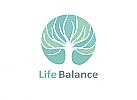 Ökologie, Zeichen, Signet, Logo, Lebensbaum, Life Balance, Natur