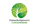 Öko, Zeichen, Signet, Logo, Heilpraktiker, Arztpraxis, Abstrakt, Natur, Baum