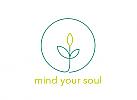 Öko. Zeichen, Signet, Logo, Arzt Logo, Kreis, Natur, Pflanze, Life Balance, Wellness