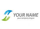 Zwei Hände, Team, Helfer, Logo