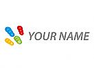 Öko, Zeichen, Skizze, Kugeln, Kreise, farbig, Logo