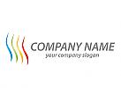 Wellen, Linien, farbig Logo