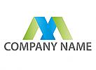 Buchstabe M oder A Logo