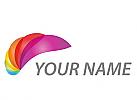 Öko, Zeichen, Skizze, Wellen, Spirale, farbig, Logo