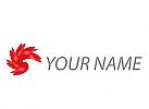 Spirale, Welle, Blume Logo