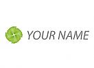 Spirale, Blume, Wellen Logo