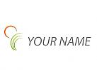 Zeichen, Zeichnung, Symbol, Sonne, Pflanze, Blätter, Gärtner, Logo