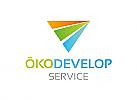 Öko Logo, Zeichen, Signet, Logo, Energie, Natur, Eco, Abstrakt, Dreieck
