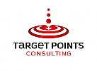 ö, Zeichen, Signet, Logo, Ziel, Zielscheibe, Kugeln, Targetpoints, Marketing, Consulting