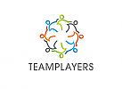 Zeichen, Signet, Logo, Gruppe, Menschen, Team, Synergie, Kreis, Kreislauf