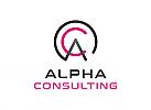 ö, Zeichen, Signet, Logo, Buchstabe, A, C, Alpha, Consulting