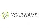 Ökologie, Zwei Blätter, Pflanzen, Logo