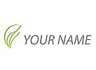 Ökologie, Zwei Blätter, Pflanze, Gärtner, Logo