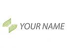 Öko Wellen, Viele Linien, Wellen in grün, Logo