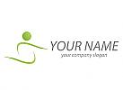 Öko, Zeichen, Skizze, Person, Bewegung, Sport, Fitness, Logo