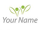 Ökologisch, Zwei Personen, Zeichen, Skizze, Personen, Pflanzen, Blätter, Logo