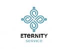 Zeichen, Signet, Skizze, Logo, Menschen, Gruppe, Ornament, Blume, Synergie, Invinity, Eternity, Unendlich