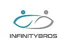 Zwei Menschen, Zeichen, Signet, Skizze, Logo, Infinity Logo