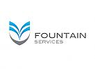 Zeichen, Signet, Logo, Wasser, Boot, Kiel, Schiff, Fountain, Brunnen