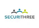 Zeichen, Signet, Logo, Gruppe, Menschen, Team, Security, Consulting, Personal Management
