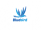 Ö Blue bird, blauer Vogel Logo