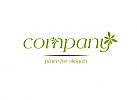 Logo blumen, logo gärtner, logo landschaft
