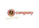 meridian logo, kräuter logo, blüte logo, kern logo, sonne logo, energie logo