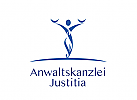 §, Zeichen, Signet, Skizze, Logo, Rechtsanwalt, Justitia