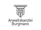 §, Zeichen, Signet, Logo, Rechtsanwalt, Paragraphenzeichen, Säulen