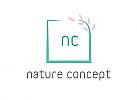 Zeichen, Signet, Skizze, Logo, Quadrat, Blüte, Natur