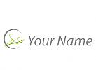 Zwei Personen, Massage, Orthopädie, Logo