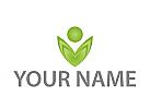 Person als Blume, Pflanze Logo