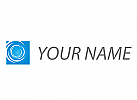 Rechteck, Spirale, Logo für Dienstleistungen