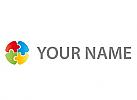 Puzzle, Kreis, farbig Logo